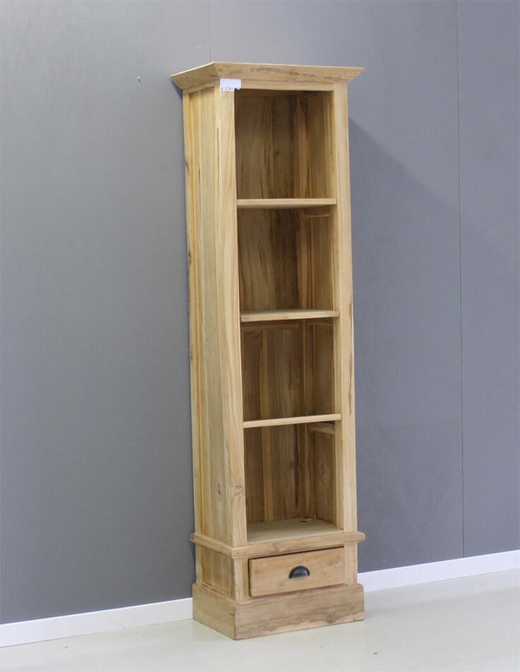 smalle boekenkast met 1 lade