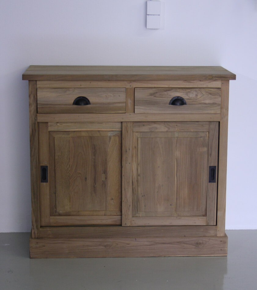 dressoir 100cm breed 2 schuifdeuren indoteak. Black Bedroom Furniture Sets. Home Design Ideas