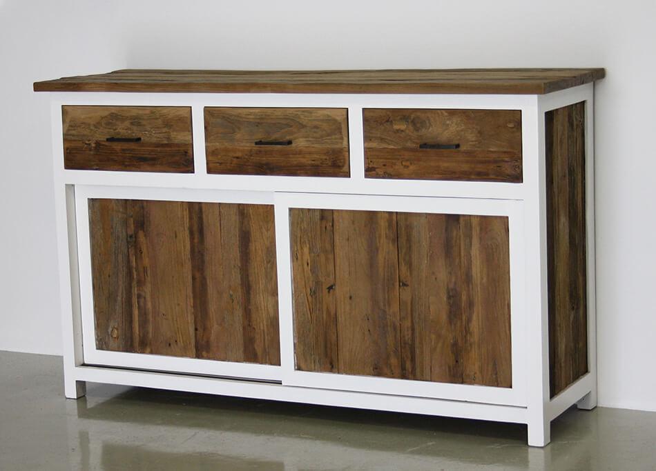 dressoir duo 150cm indoteak. Black Bedroom Furniture Sets. Home Design Ideas