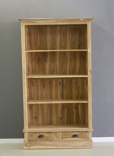 boekenkast 1 meter breed van teak hout
