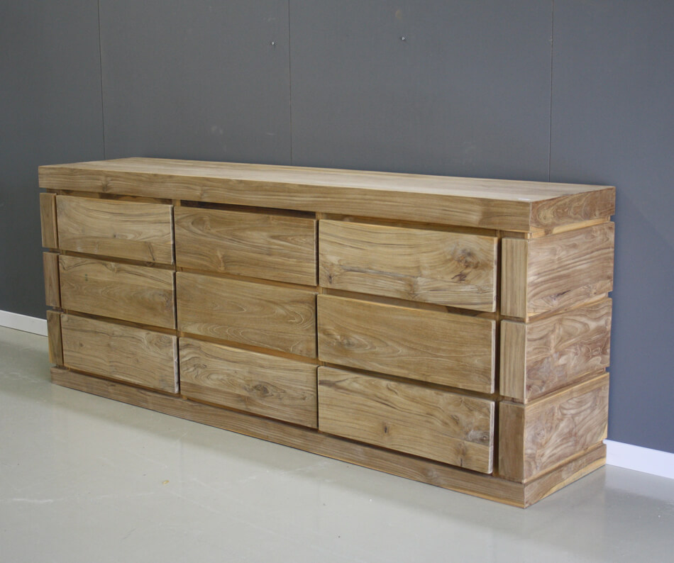 Dressoir 1 Meter Breed.Dressoir 2 Meter Breed 9 Laden Indoteak