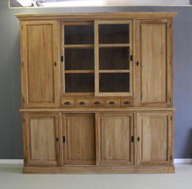 teak houten servieskast