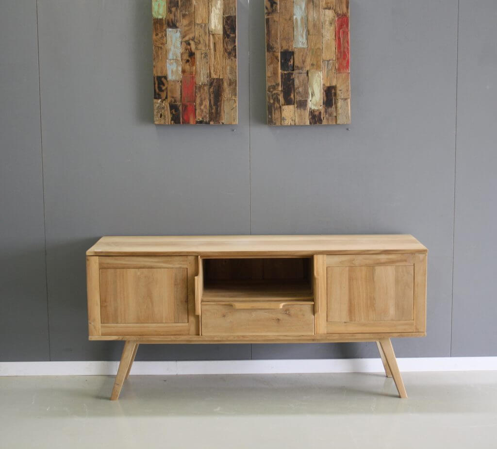 TV meubel teakhout retro stijl