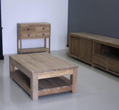 teak salontafel 120x80