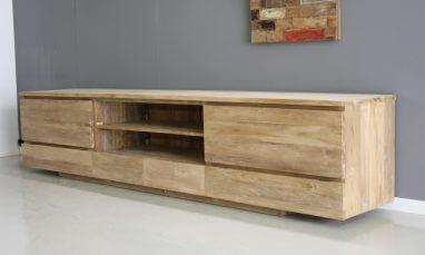 Audio Meubel Teak : Tv meubels indoteak
