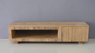 tv meubel van teakhout 180cm breed