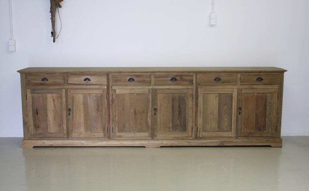 teak dressoir 3 meter
