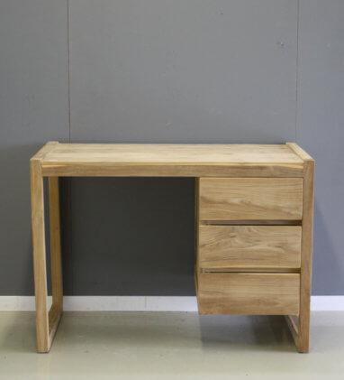 klein bureau teak hout