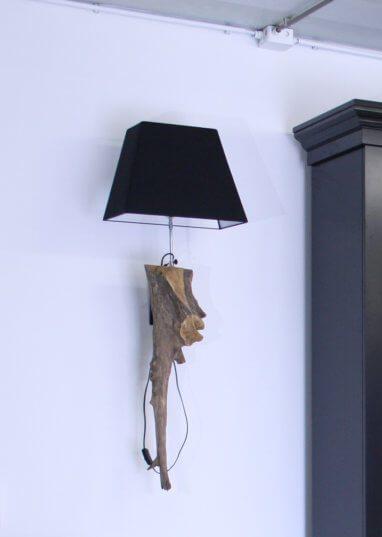 Wandlamp zwerfhout