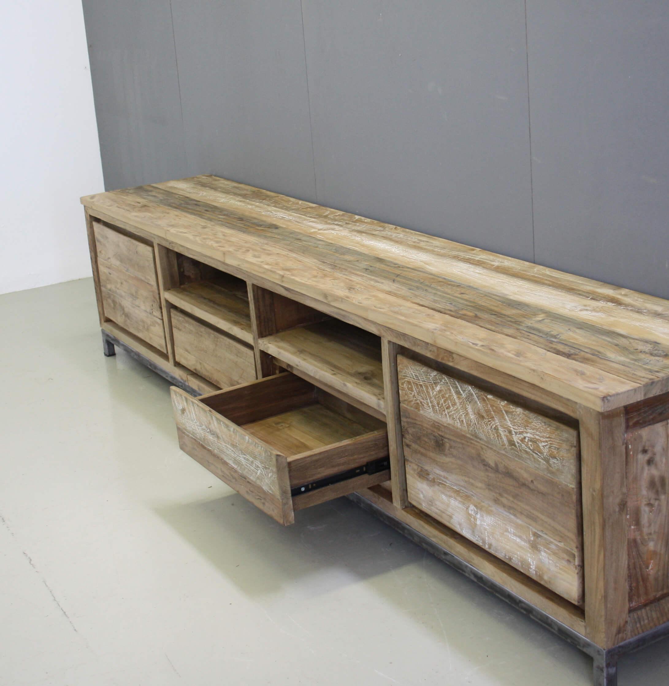 new york tv meubel 250cm indoteak. Black Bedroom Furniture Sets. Home Design Ideas