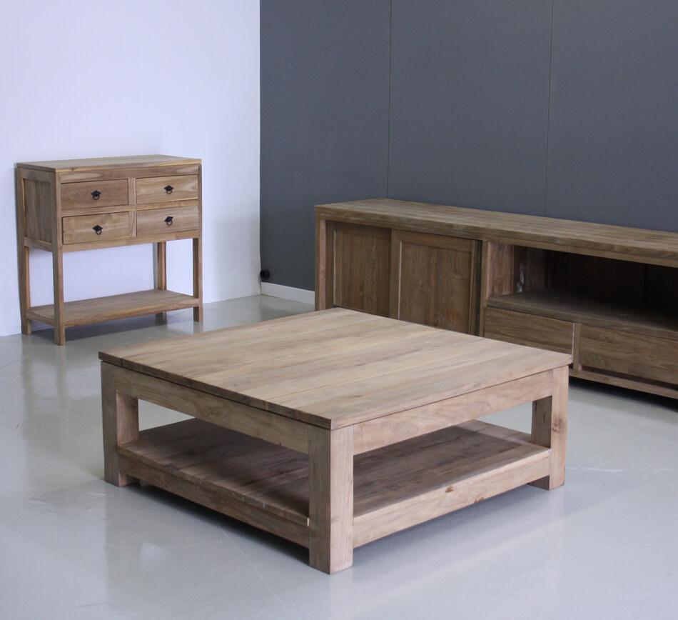 vierkante salontafel 80x80cm