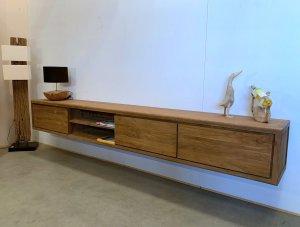 hangend tv meubel teak hout
