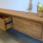 hangend tv meubel hout