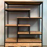 Boekenkast hout&staal