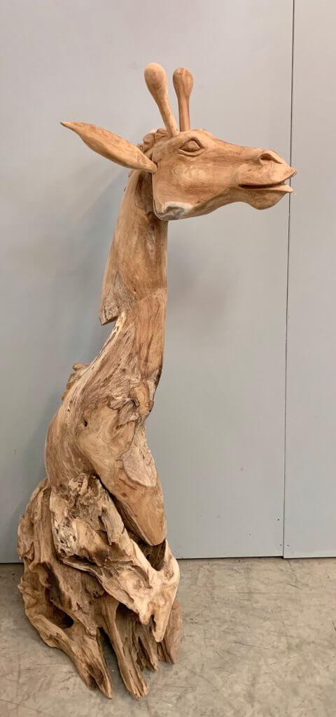 teakhouten giraf