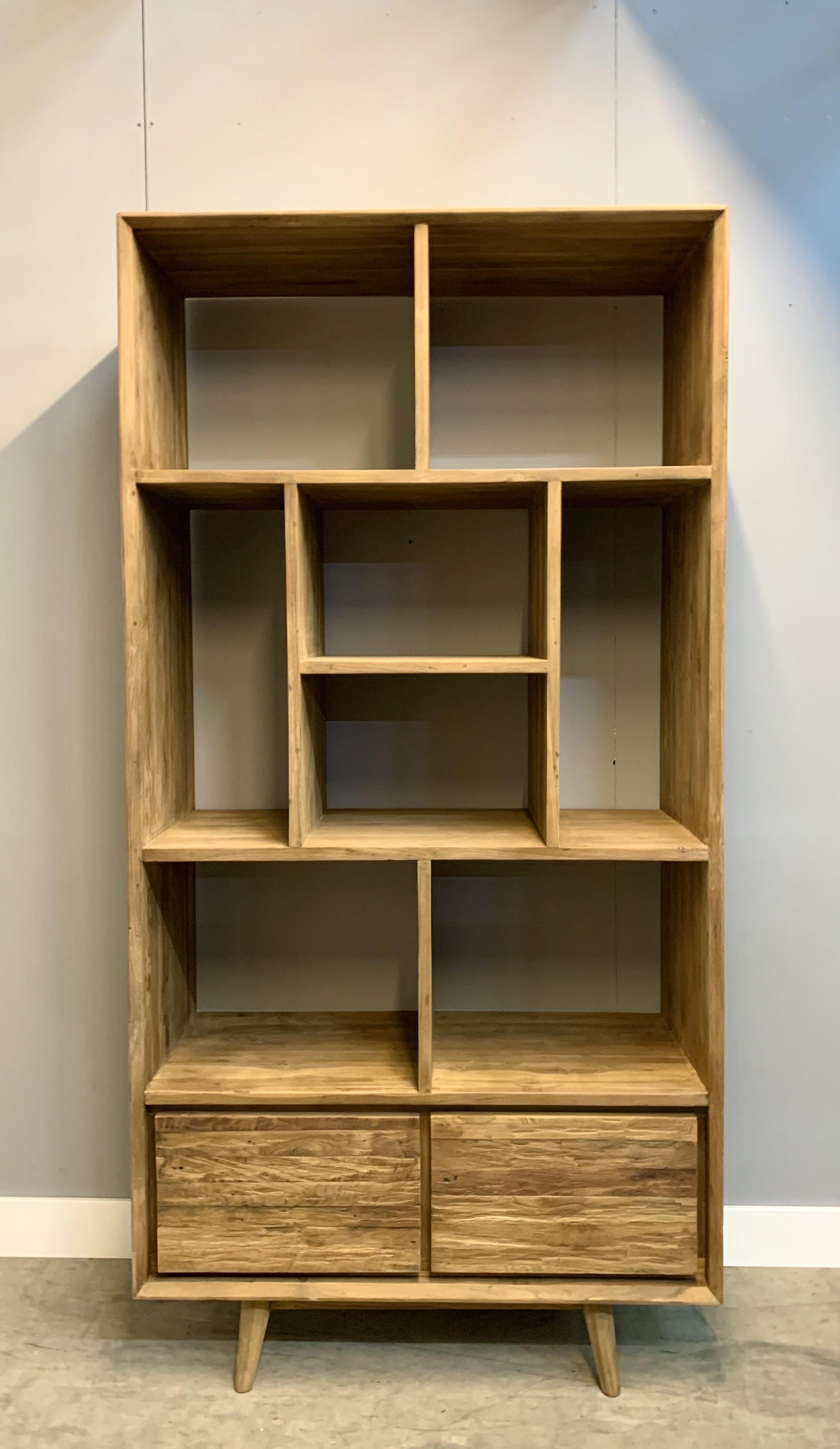 indoteak retro boekenkast