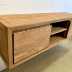 hangend tv meubel gerecycled teak
