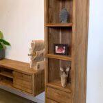 Moderne boekenkast van teakhout