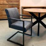 industriële stoel antraciet