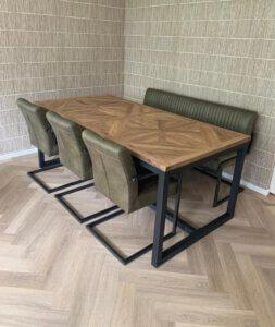 Behandelde tafel met ultra-matte lak